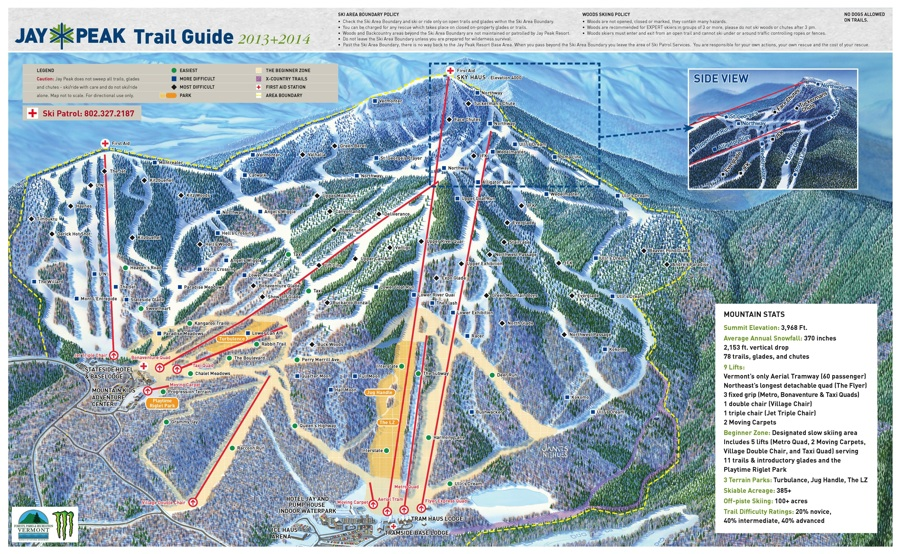 Jay Peak Ski Resort Trail Map Vermont Ski Resort Maps